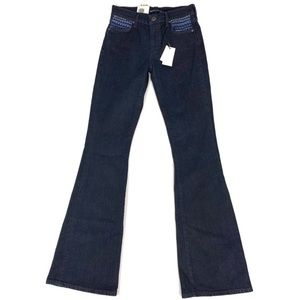 Levi's Dark Wash Mid Rise Stem's Flared Jeans